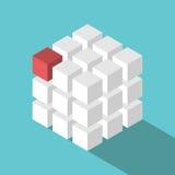 立方体被装配块 向量例证