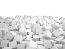 立方体, 3D堆  免版税库存照片