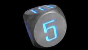 立方体读秒