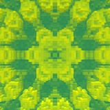立方体3d挤压对称背景,几何回报 库存例证