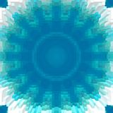 立方体3d挤压对称背景,设计纹理 皇族释放例证