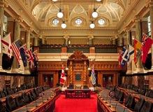 立法房间,不列颠哥伦比亚省议会 图库摄影