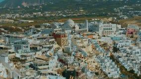 建立特写镜头被射击一个传统Cycladic地中海村庄 影视素材