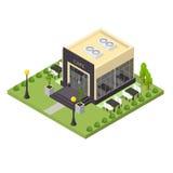 建立等轴测图的咖啡馆 向量 图库摄影