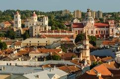 立陶宛。维尔纽斯老镇在夏天 免版税库存照片