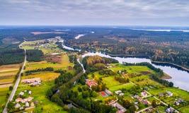 立陶宛从上面 库存照片