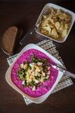立陶宛传统冷的甜菜根汤 免版税库存图片