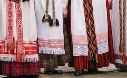 立陶宛传统礼服 免版税图库摄影