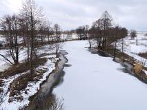 立陶宛冬天风景 免版税图库摄影