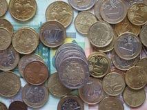 立陶宛发布的欧洲硬币 免版税库存图片