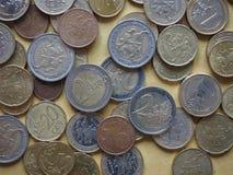 立陶宛发布的欧洲硬币 免版税库存照片