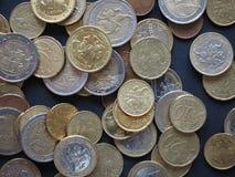 立陶宛发布的欧洲硬币 库存图片