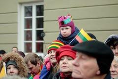 立陶宛国家地位的恢复的100th周年 免版税图库摄影