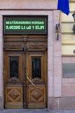 立陶宛国家银行门 库存图片
