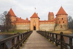 立陶宛国王城堡  特拉凯 立陶宛 库存图片