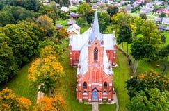 立陶宛教会在Kaltanenai 库存图片