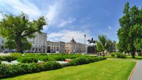 立陶宛正方形在鲁布林。城市在波兰。 免版税库存照片