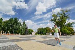 立陶宛正方形在鲁布林。城市在波兰。 图库摄影