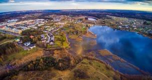 立陶宛湖天线 图库摄影