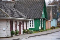 立陶宛特拉凯 老农村大厦 库存图片