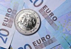 2立陶宛的欧元硬币 免版税库存图片