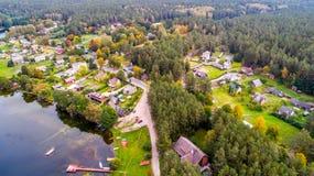 立陶宛的空中风景 库存图片