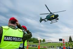 立陶宛边防卫兵欧洲直升机公司EC 13 免版税库存图片