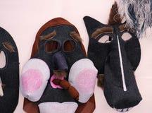 2017-02-25立陶宛,维尔纽斯, Shrovetide,狂欢节的, 2月狂欢节面具, 图库摄影