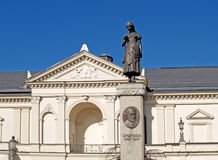 立陶宛 剧院正方形的克莱佩达戏曲剧院 免版税库存图片