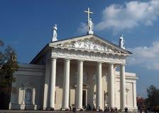 立陶宛维尔纽斯的社论全国大教堂 库存图片