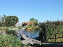 立陶宛minge村庄 免版税图库摄影