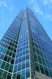 建立高现代办公室上升的抽象结构背景 免版税库存图片