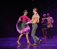 立刻成为朋友这奥地利的世界舞蹈最好  库存照片
