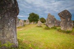 竖石纪念碑布里坦尼 免版税库存照片