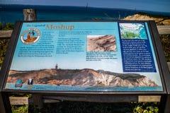 站点的一个描述委员会在鳕鱼角,马萨诸塞 库存图片