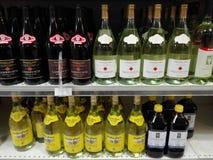 站点超级市场酒部门 免版税图库摄影