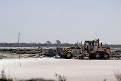 站点运行的海盐盐Aigues-Mortes 库存图片