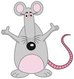 站立与开放胳膊的鼠 免版税库存照片