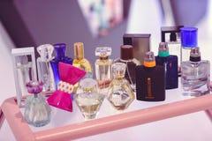 站立与玫琳凯香水乌克兰时尚星期 库存图片