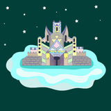 站立在云彩的宫殿 库存照片