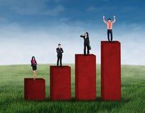站立在企业图1的集团 免版税图库摄影
