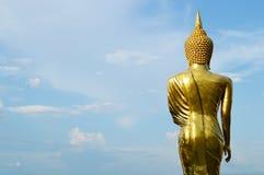 站立在山Wat Phra那Khao Noi的菩萨 图库摄影