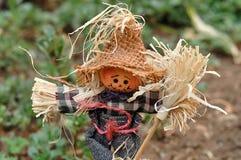 站立在庭院里的稻草人小雕象 免版税库存照片