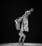 站立在战士在差事到迷宫现代舞蹈舞蹈动作设计者玛莎・葛兰姆里 免版税库存图片