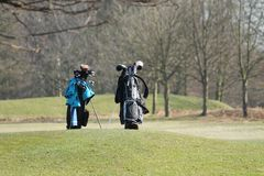高尔夫球袋。 库存图片