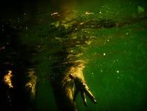 站立在水中的人 免版税库存图片