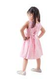 充分的身体背面图亚洲人女孩 免版税库存照片