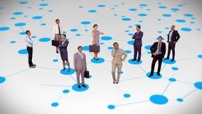 站立在连接线的商人 股票视频