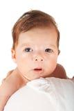 惊奇新出生的男婴 免版税库存照片