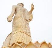 站立的巨型金黄菩萨 免版税图库摄影